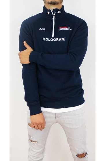 Hologram Collar Sweat-shirt