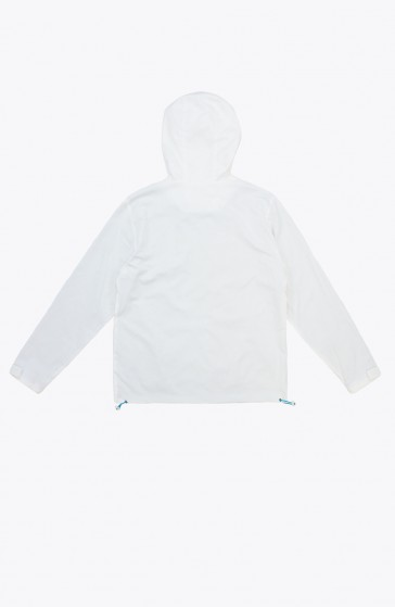 Sleet white Windbreaker