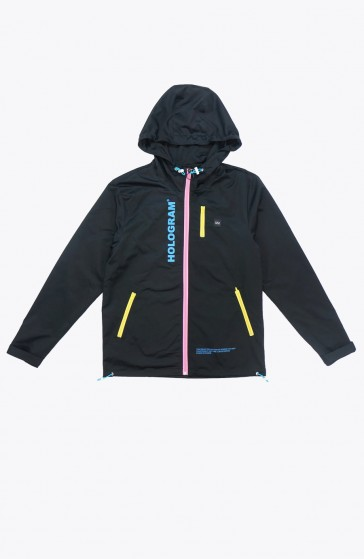 Sleet black Windbreaker