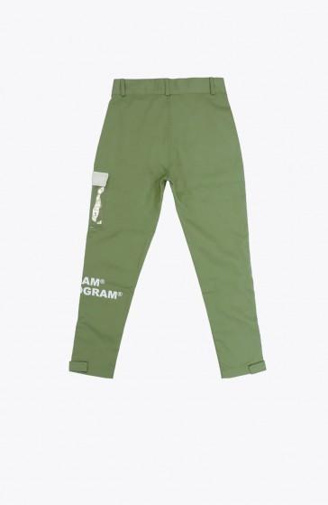 Pantalon Grid kaki