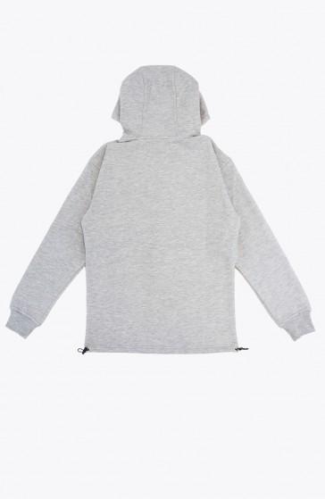 Hoodie Ruffle grey
