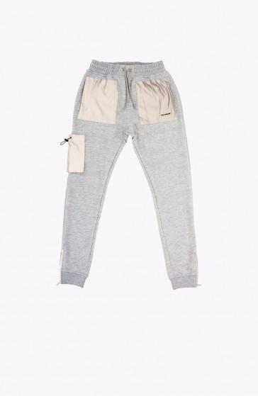 Grey Ruffle Pant