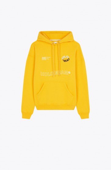 Hoodie Wave yellow
