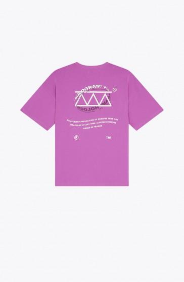 T-shirt Sphere purple